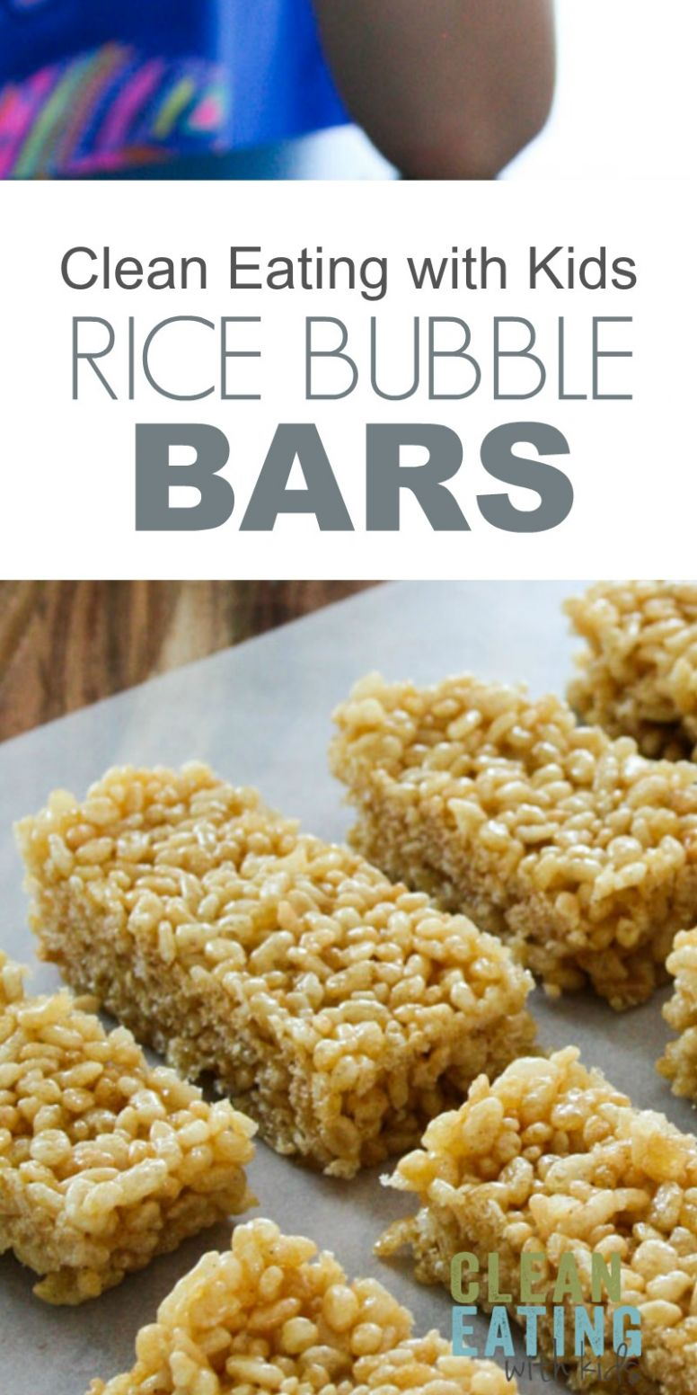 Clean Eating Rice Krispie Treats - Clean Eating with kids - Recipes Using Rice Bubbles