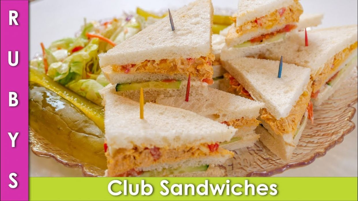 Club Sandwiches Party Ideas & Lunchbox Idea Recipe in Urdu Hindi - RKK
