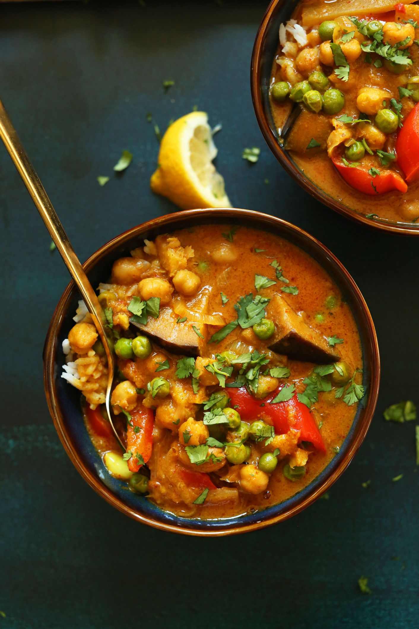 Coconut Red Curry with Chickpeas - Recipe Vegetarian Red Curry