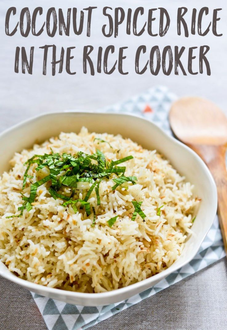 Coconut Spiced Rice in the Rice Cooker Recipe - Recipes Rice Cooker