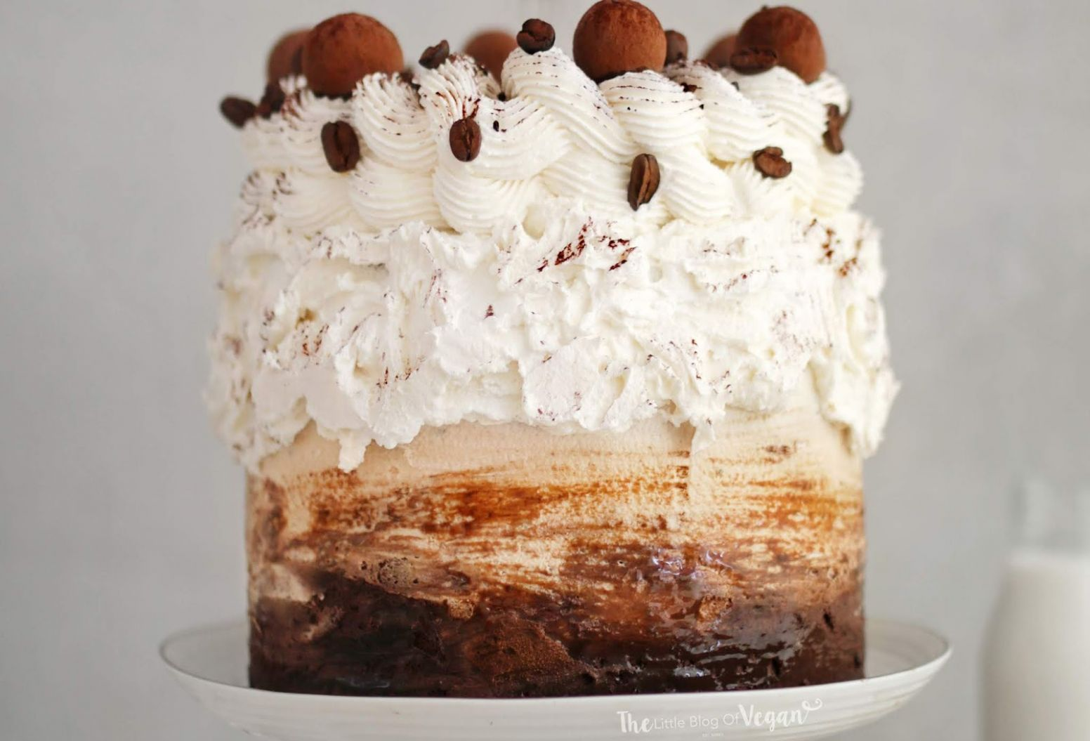 Coffee layer cake recipe | Ft Sproud | The Little Blog Of Vegan