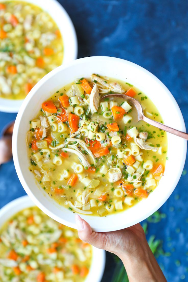 Cold Fighting Chicken Noodle Soup - Soup Recipes For Colds