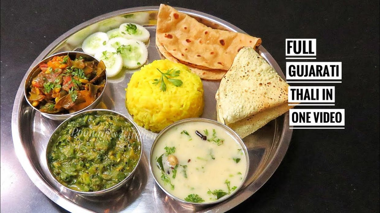 Complete Gujarati Thali Meal Recipe/ How to make Gujarati Thali in Hindi/  Best Gujarati Thali Recipe