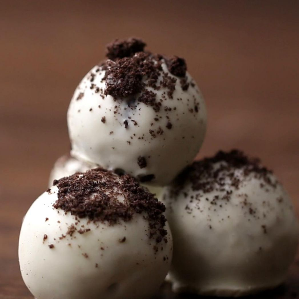 Cookies & Cream Truffles Easy Dessert Recipe by Tasty - Easy Recipes Dessert Tasty