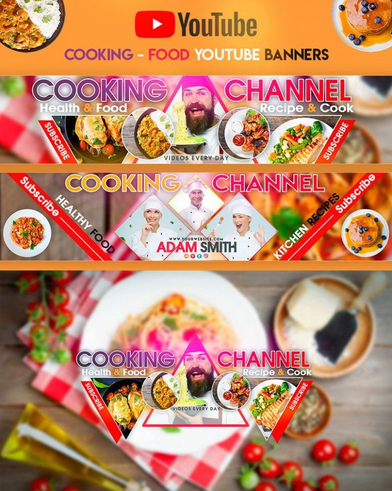 Cooking & Recipes YouTube Banner | Youtube banners, Cooking recipes - Food Recipes Youtube
