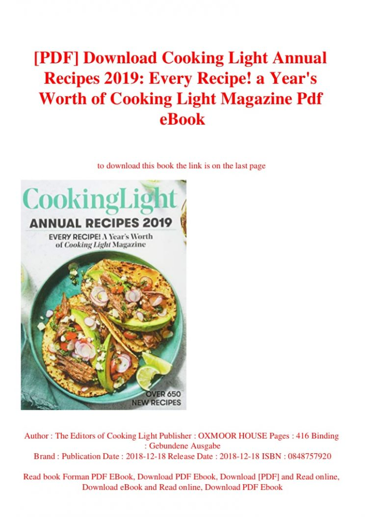 cooking light pdf - Hunkie - Cooking Recipes Ebook Free Download