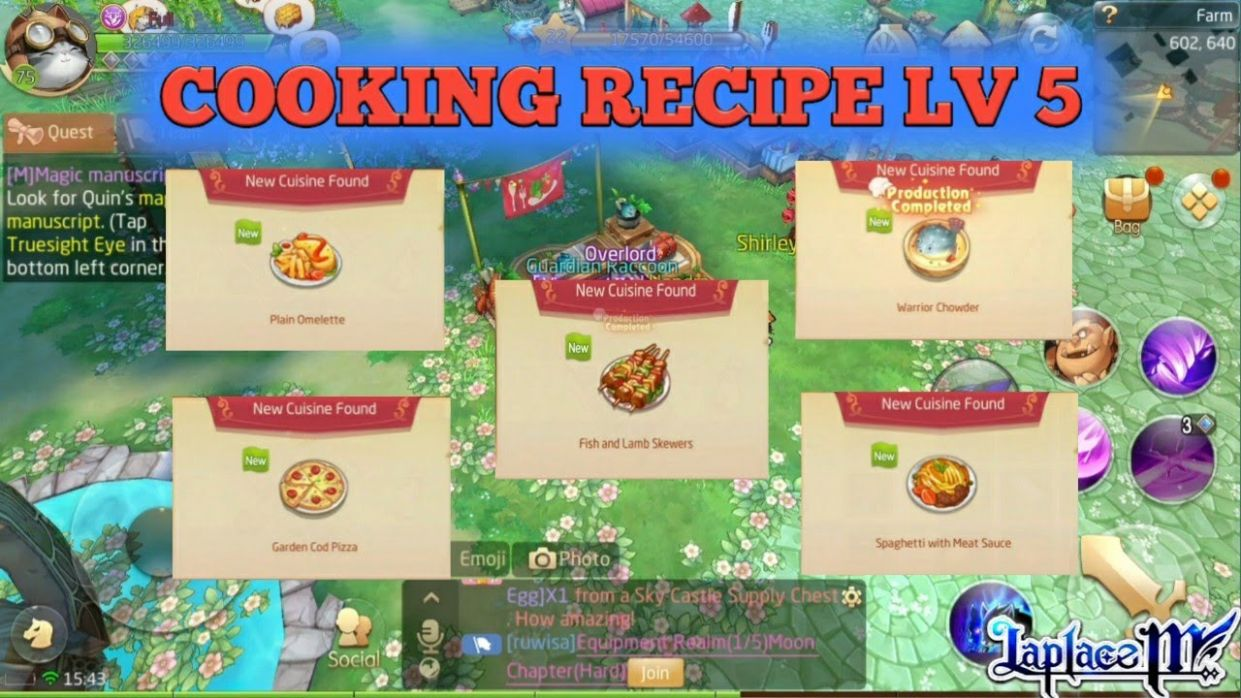 Cooking Recipe Level 12 [Laplace M / Tales of Wind] - Cooking Recipes Tales Of Wind