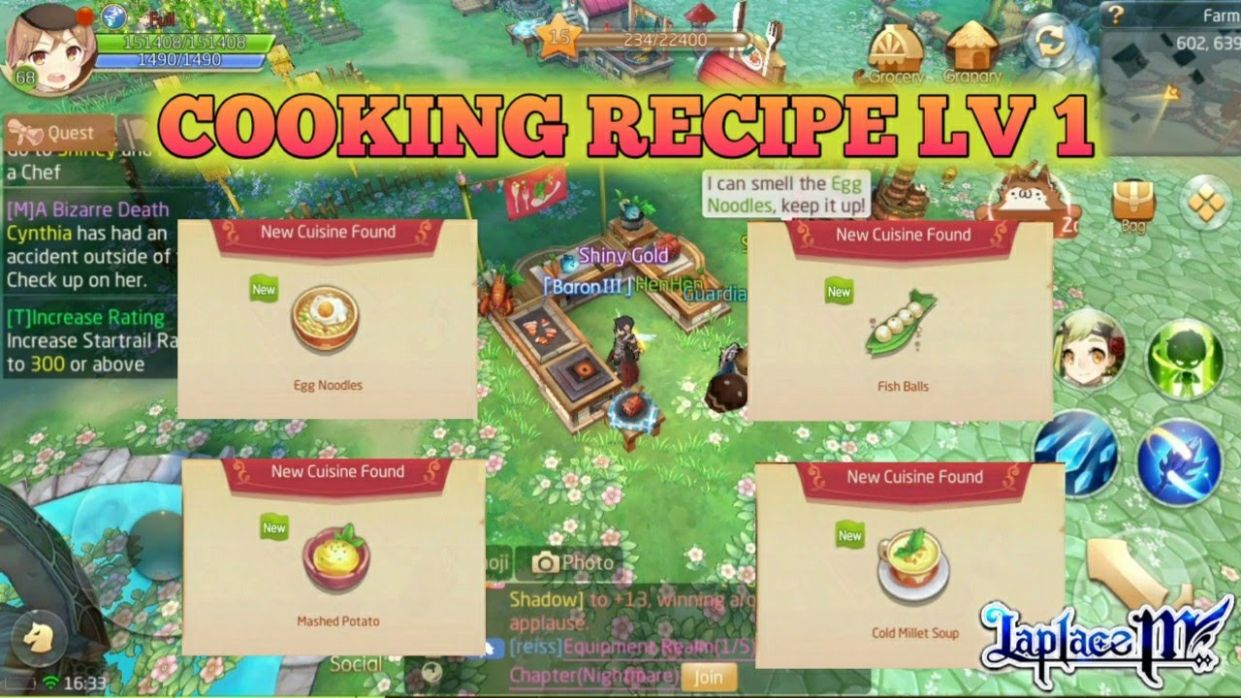 Cooking Recipes Level 10 + Full Guide Culinary [Laplace M / Tales of Wind] - Cooking Recipes Laplace M
