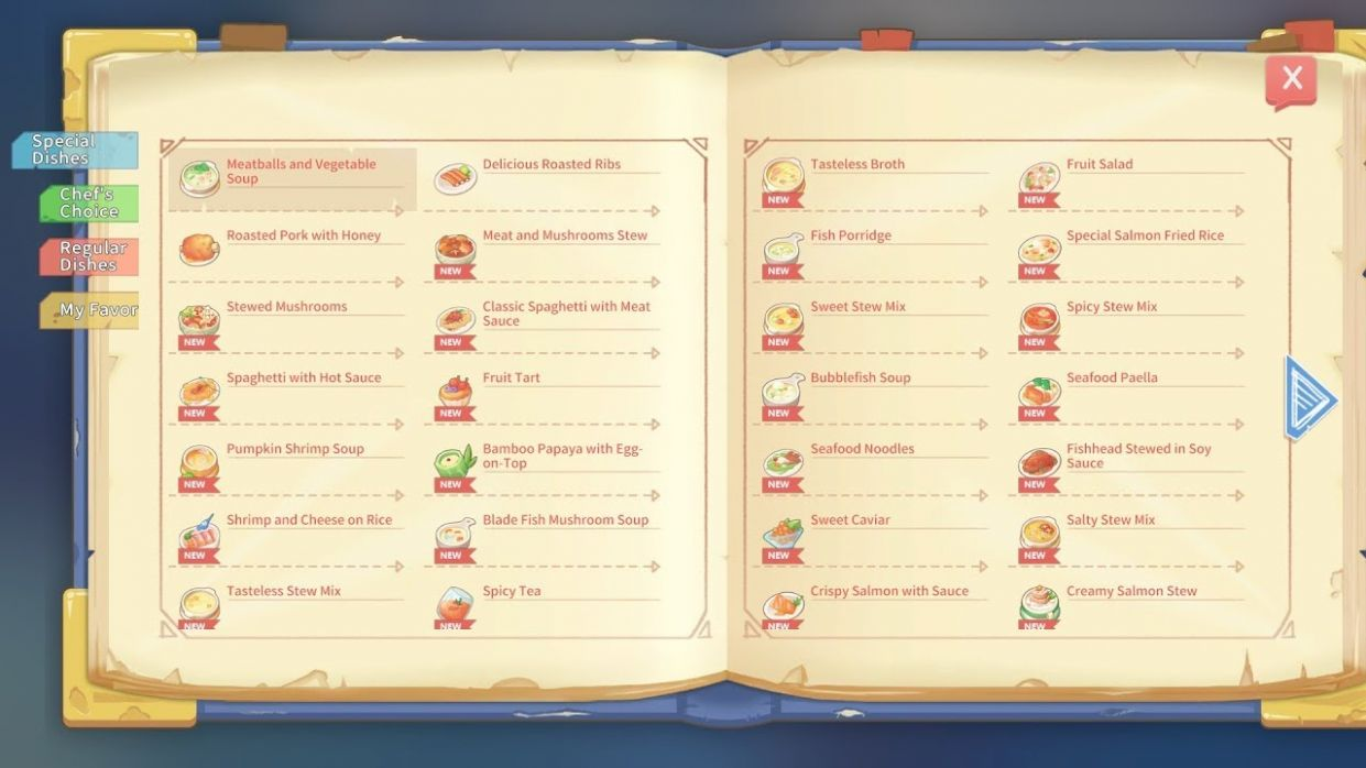 COOKING TIME with New RECIPES - My Time at Portia - Food Recipes Portia