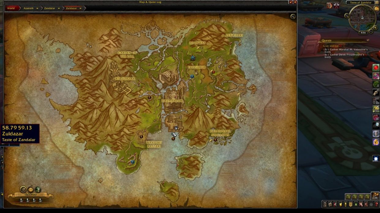 Cooking Trainer Location BfA Horde