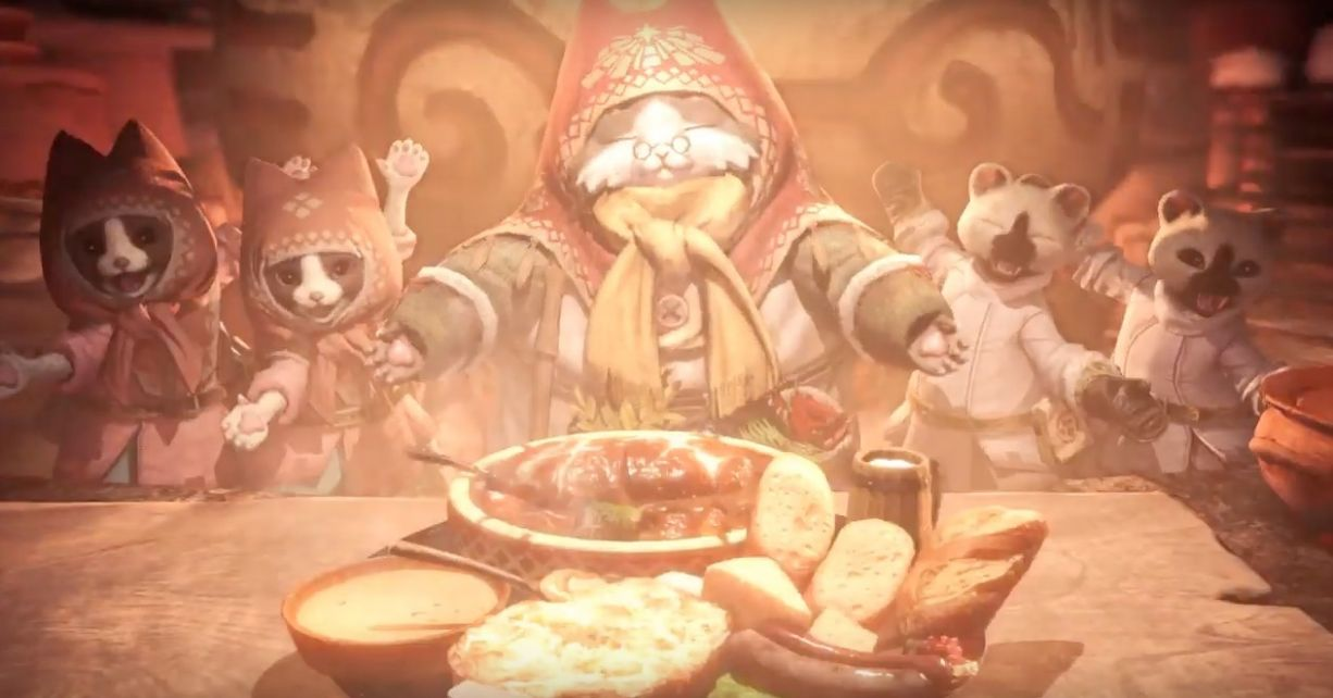 Cooking With Grammeowster Chef from Monster Hunter World: Iceborne