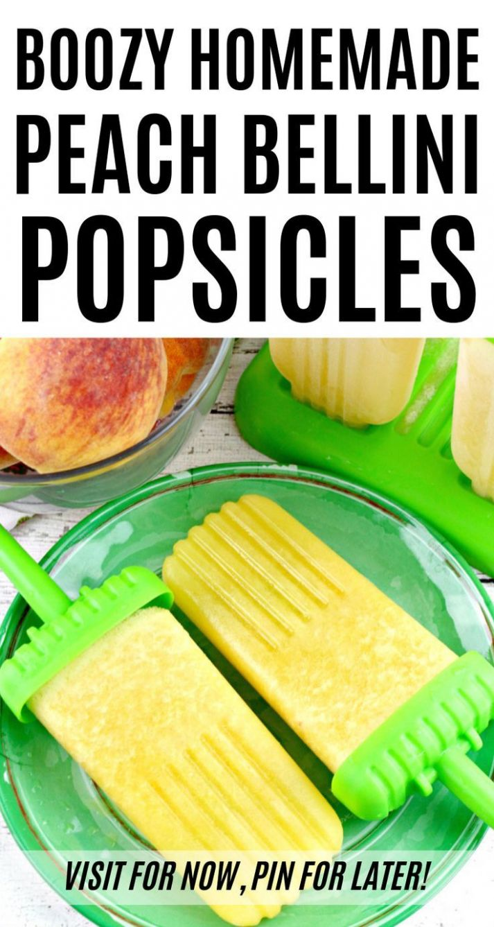 Cool down this summer with this easy homemade peach popsicles ..