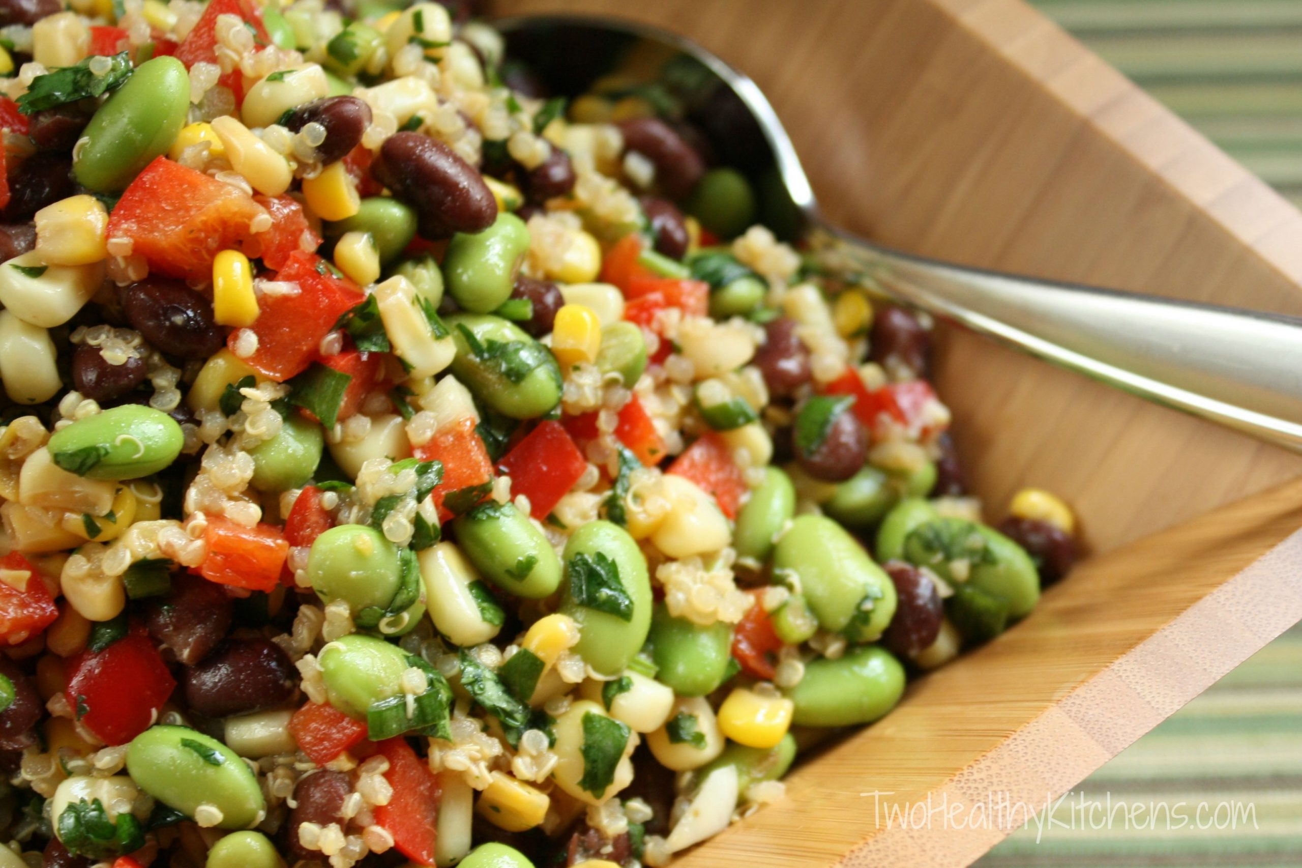 Corn, Edamame and Quinoa Salad Recipe with Lemon-Dijon Vinaigrette ...