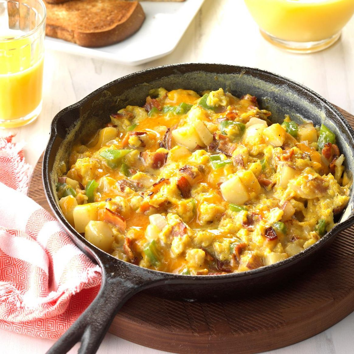 Country-Style Scrambled Eggs - Breakfast Recipes With Eggs