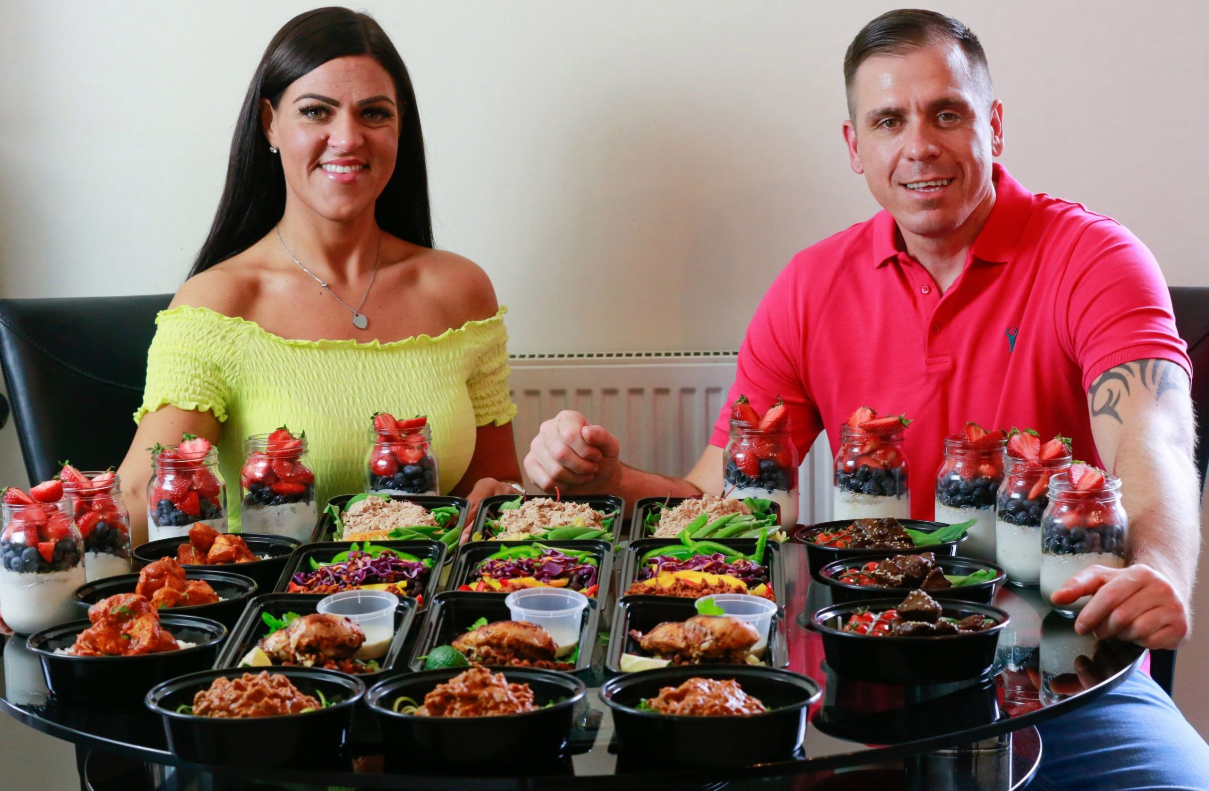 Couple lose 10 stone between them by batch-cooking meals for 10p a ...