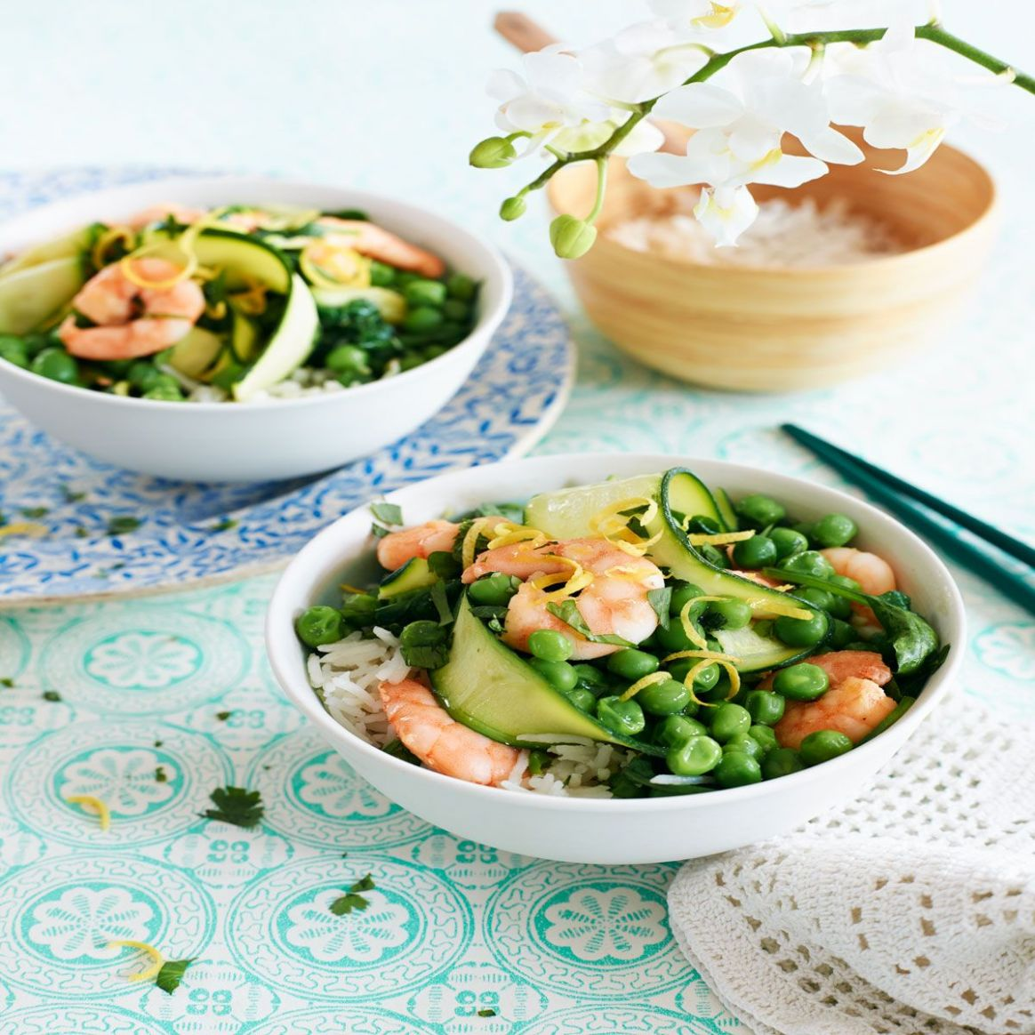 Courgette and prawn stir-fry - Summer Recipes Good Housekeeping