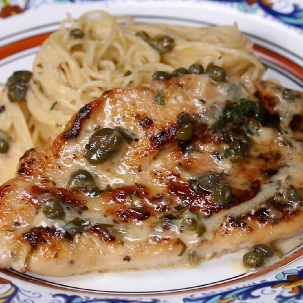 Creamy Chicken Piccata Recipe by Tasty - Recipes Chicken Piccata