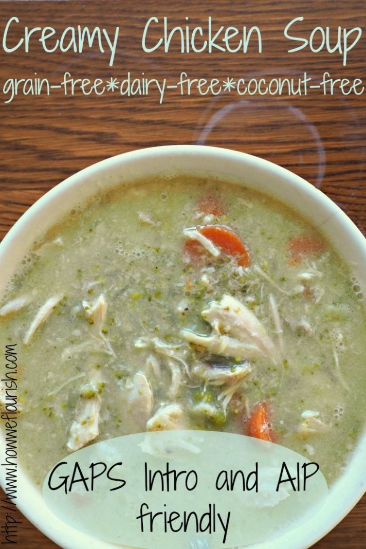 Creamy Chicken Soup (Dairy-Free, GAPS Intro, AIP) - Soup Recipes Aip