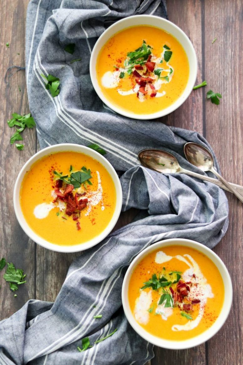 Creamy Paleo Carrot Soup with Bacon (Whole10, AIP Option) – What ..