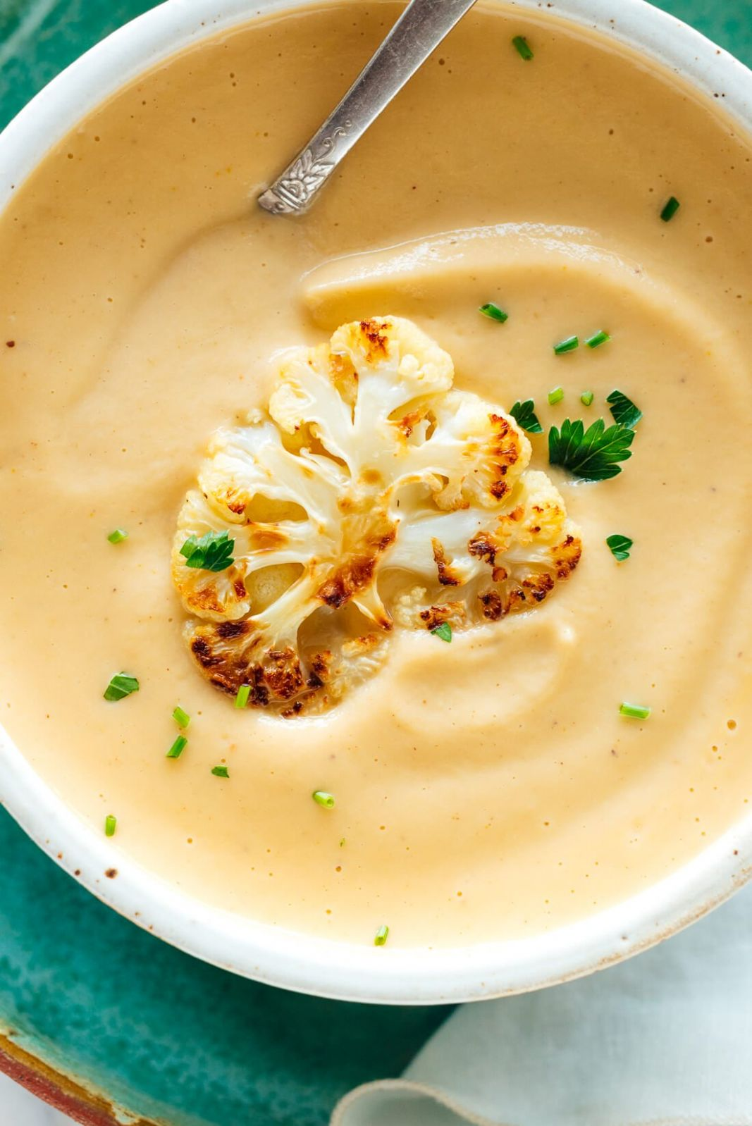 Creamy Roasted Cauliflower Soup - Soup Recipes Delicious