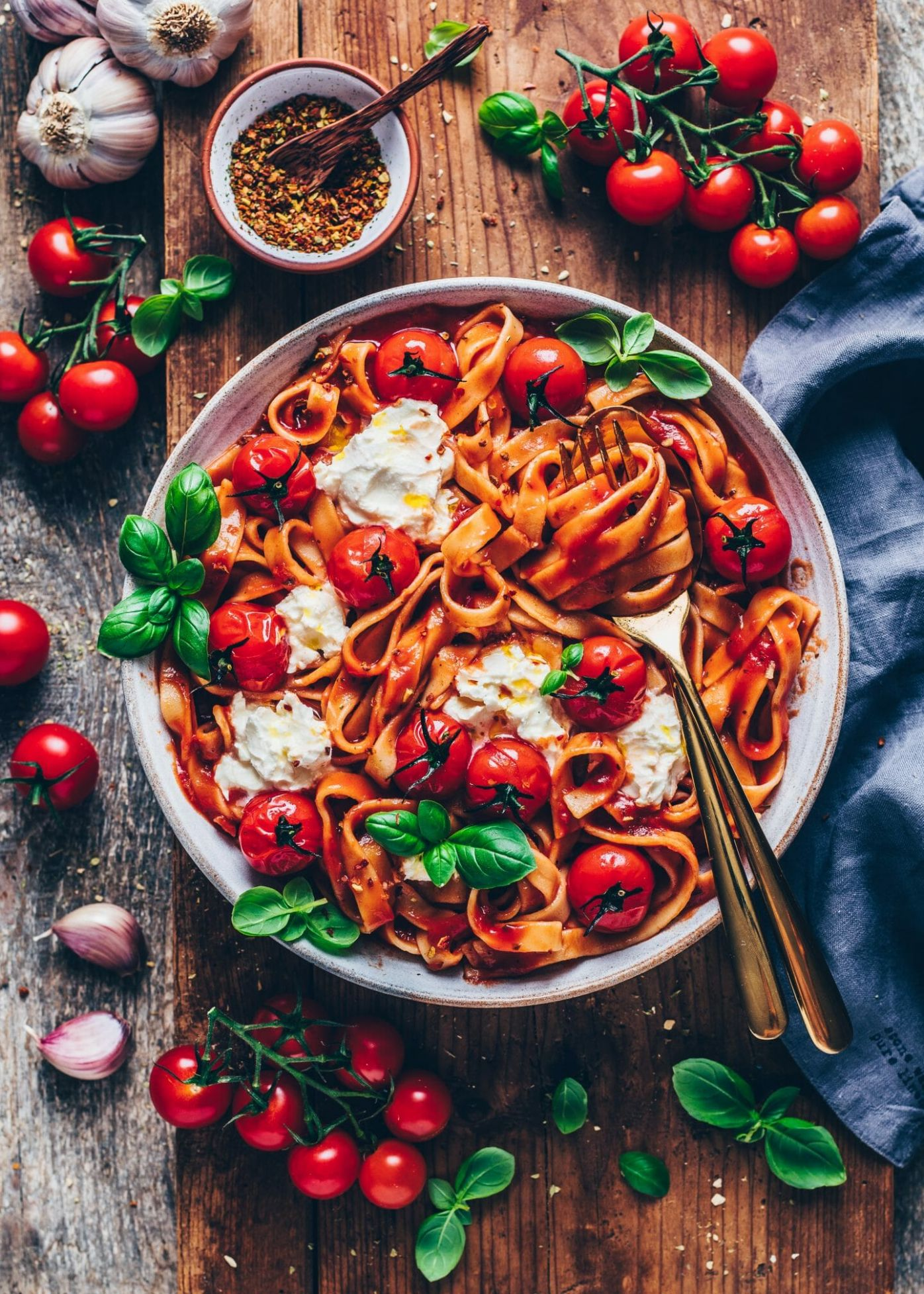 Creamy Tomato Pasta - Pasta Recipes Red Sauce Veg