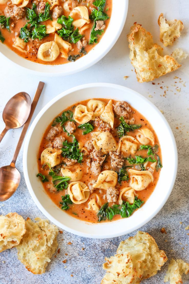 Creamy Tortellini Soup - Soup Recipes Delicious