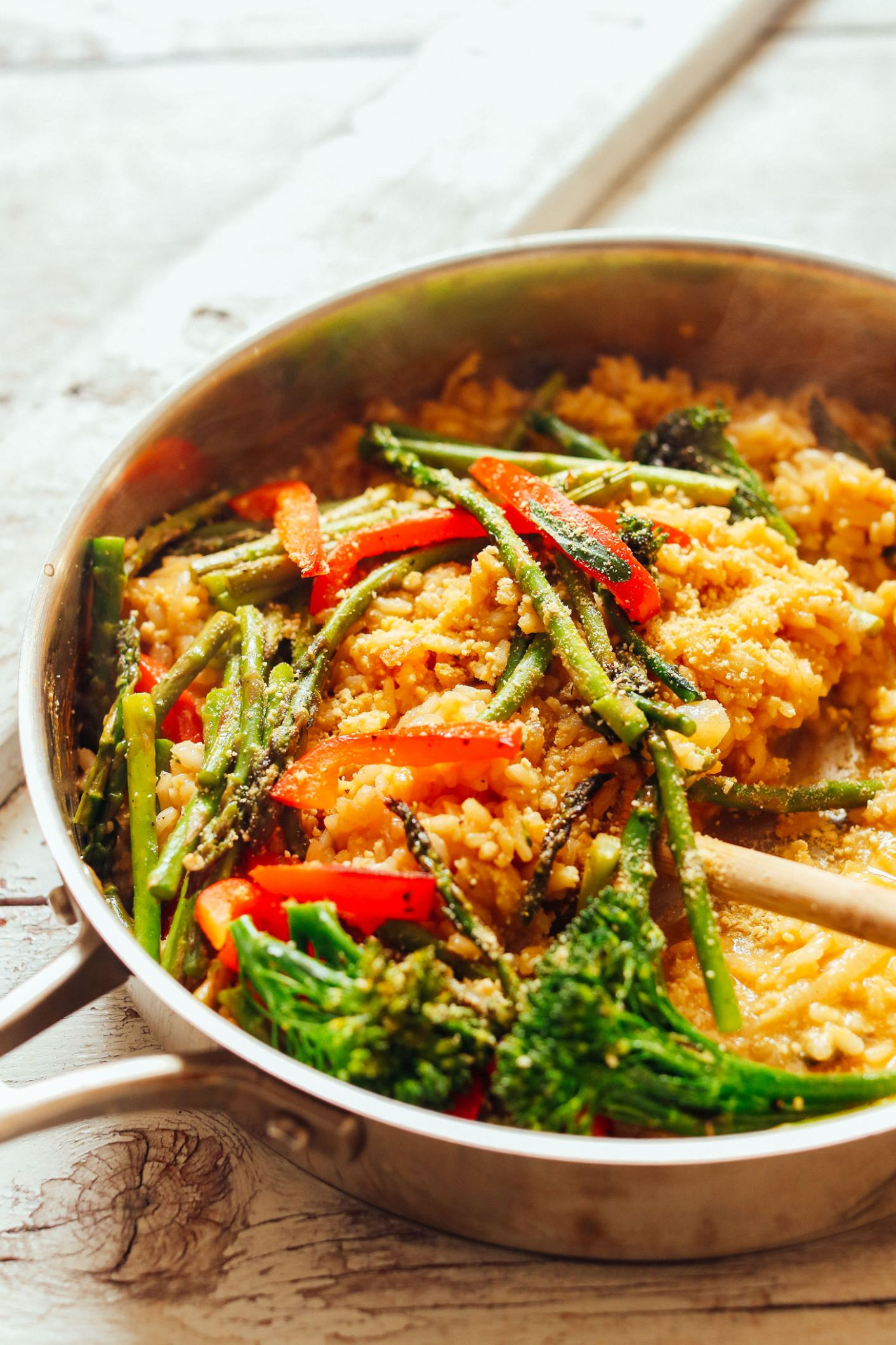 Creamy Vegetable Risotto (12 minutes!) - Recipes For Vegetable Risotto