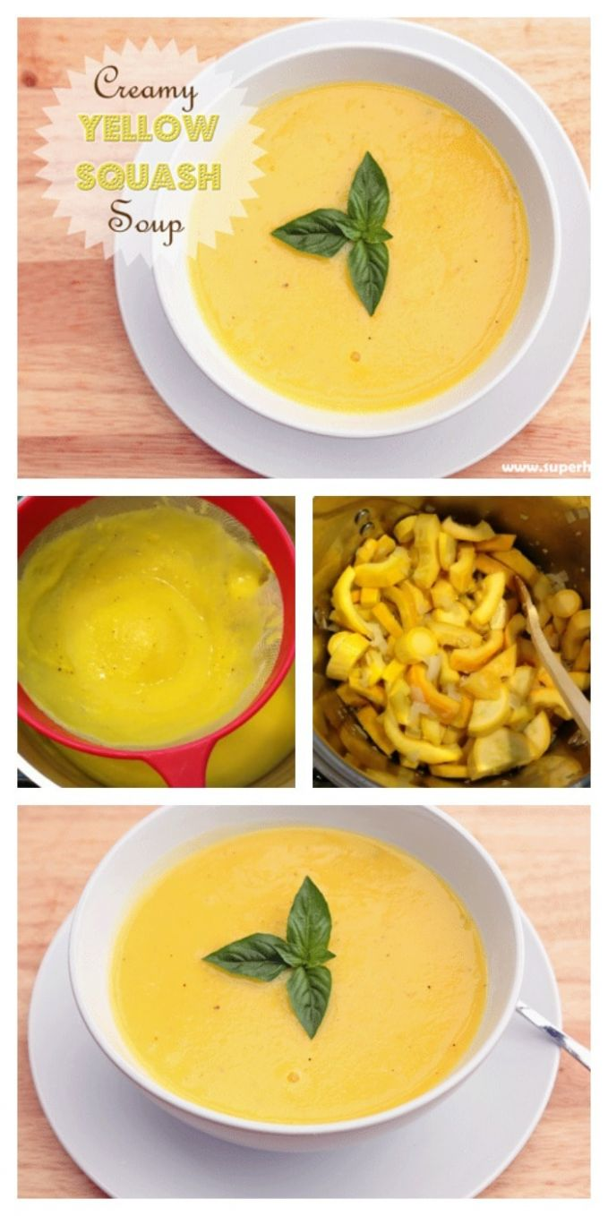 Creamy Yellow Squash Soup - Recipes For Yellow Summer Squash Soup