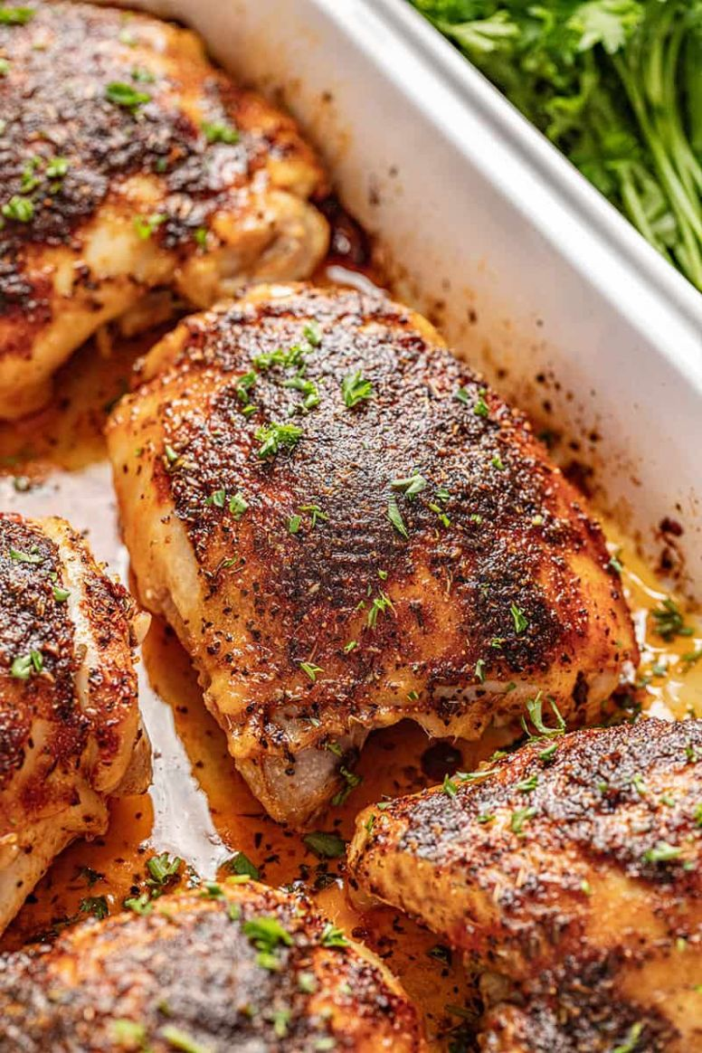 Crispy Oven Baked Chicken Thighs - Recipes Chicken Thighs