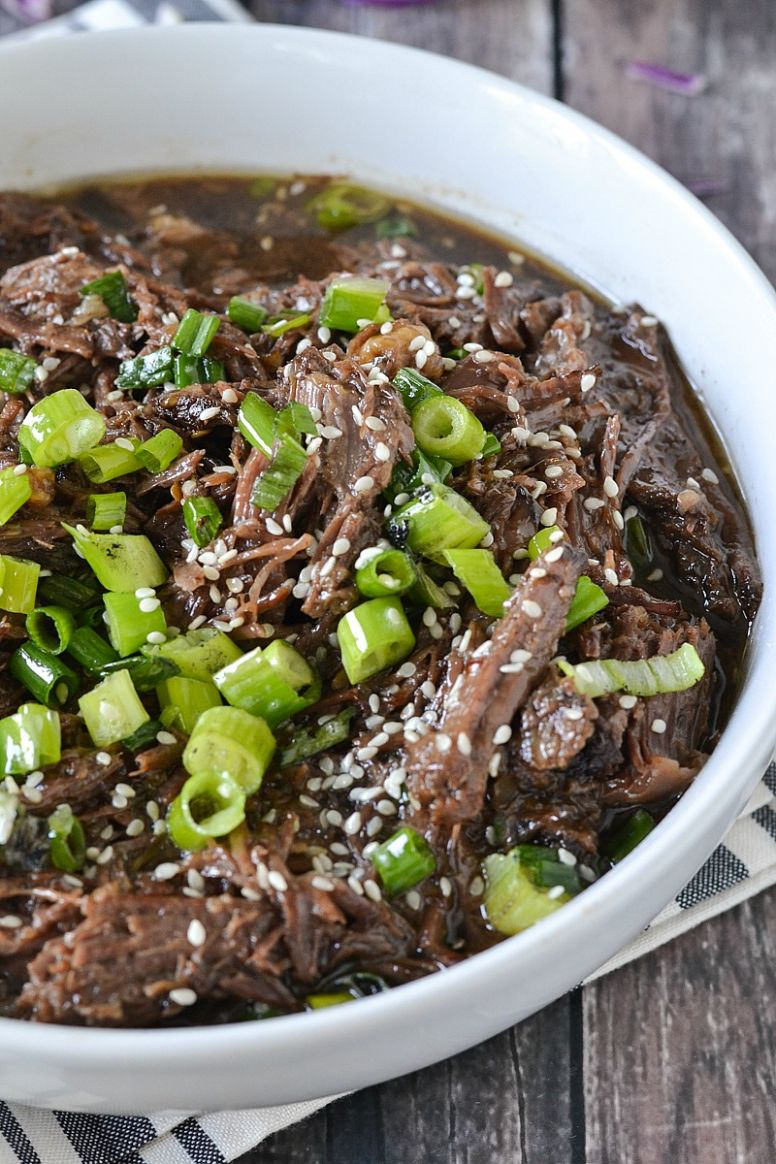 Crock-Pot® Slow Cooker Asian Style Shredded Beef - Recipes Beef In Crock Pot