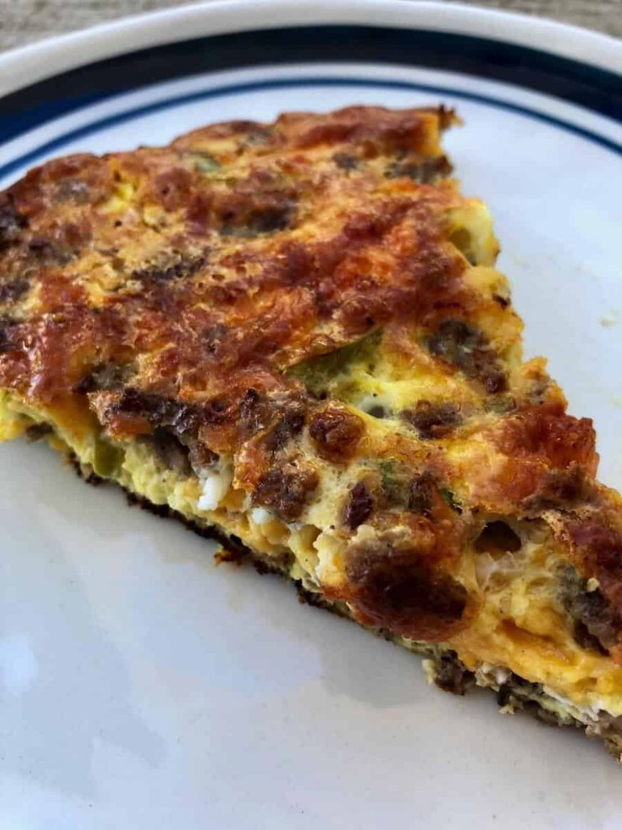 Crustless Sausage and Cheese Quiche