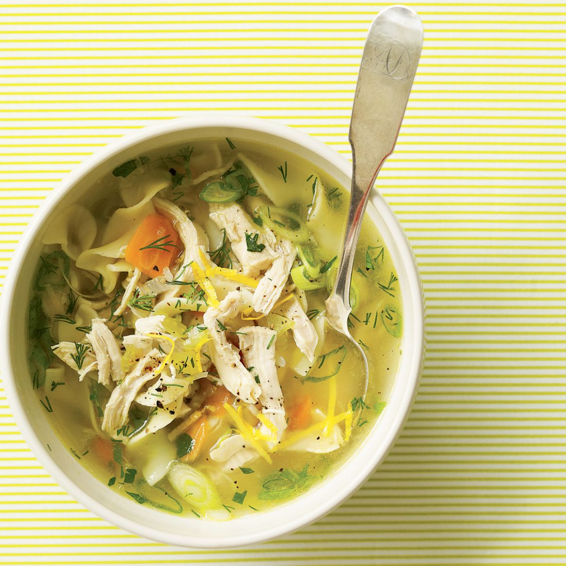 Cure-a-Cold Spring Chicken Soup - Soup Recipes For Colds