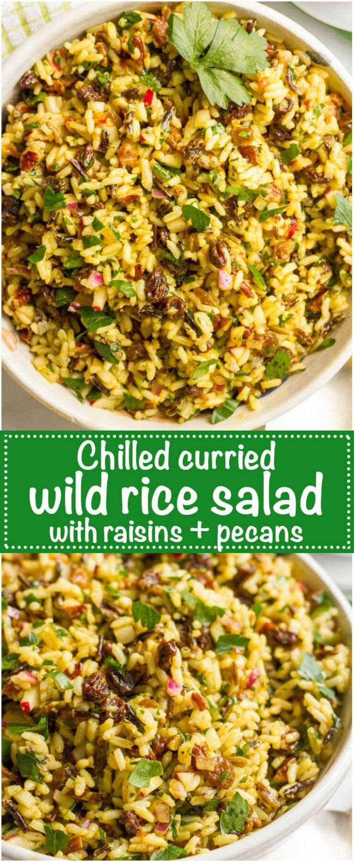 Curried wild rice salad with raisins and pecans - Recipes Rice Salad Cold
