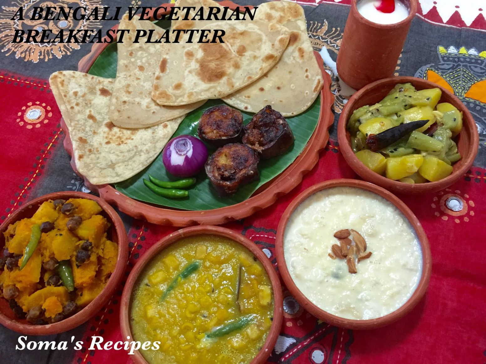 CURRY AND SPICE: A BENGALI VEGETARIAN BREAKFAST PLATTER