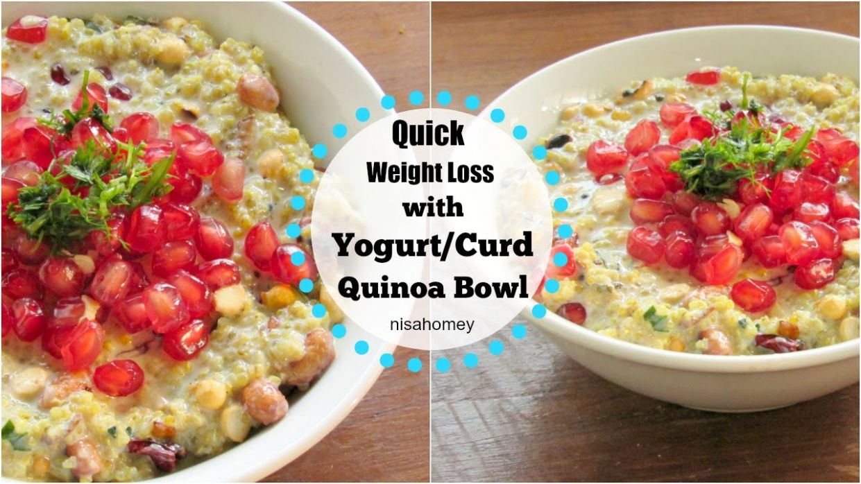 Dahi Quinoa/Curd Quinoa Recipe For Weight Loss - Indian Style Quinoa Recipe  - Skinny Recipes