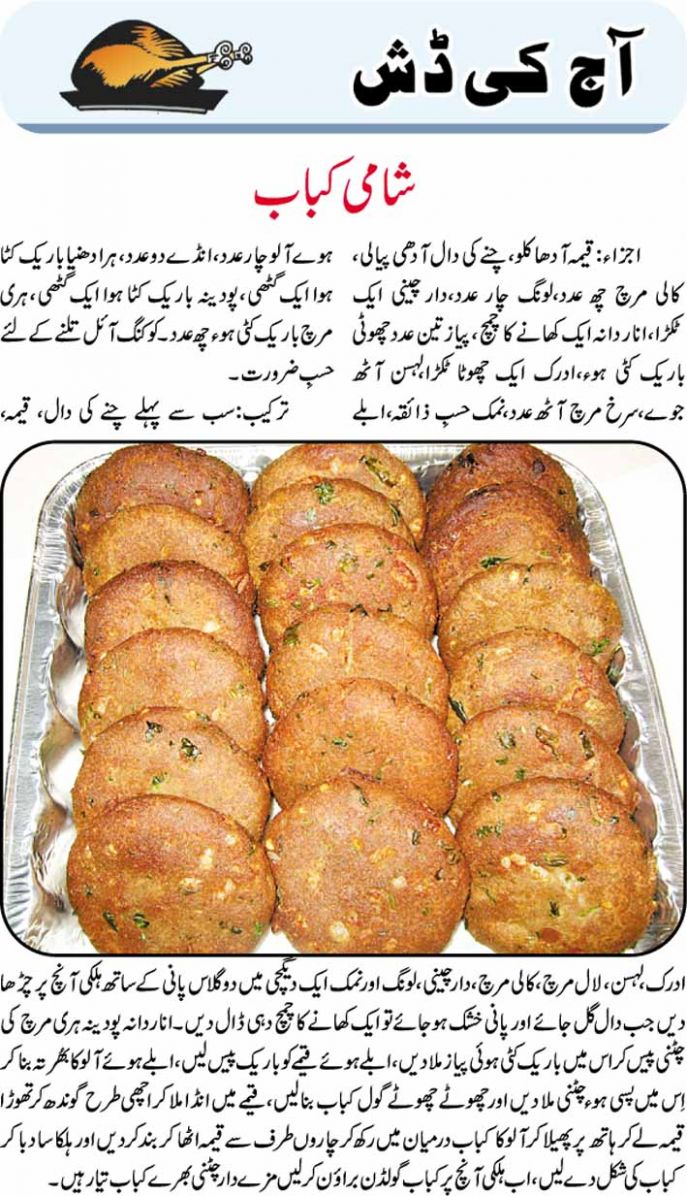 Daily Cooking Recipes in Urdu: Shami Kabab Recipe - Urdu Recipes Shami Kabab