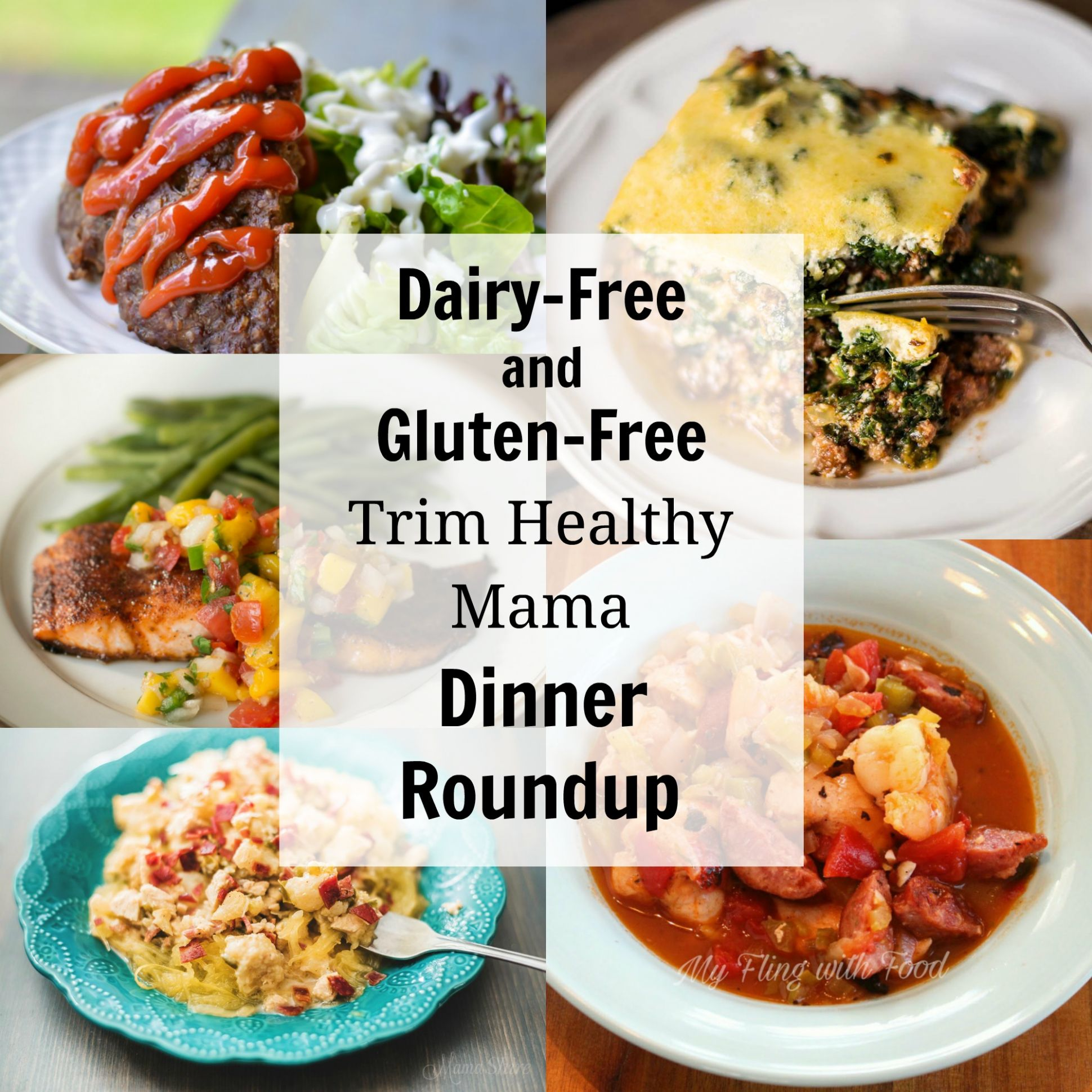 Dairy-Free and Gluten-Free Trim Healthy Mama Dinners - MamaShire - Dinner Recipes Dairy Free