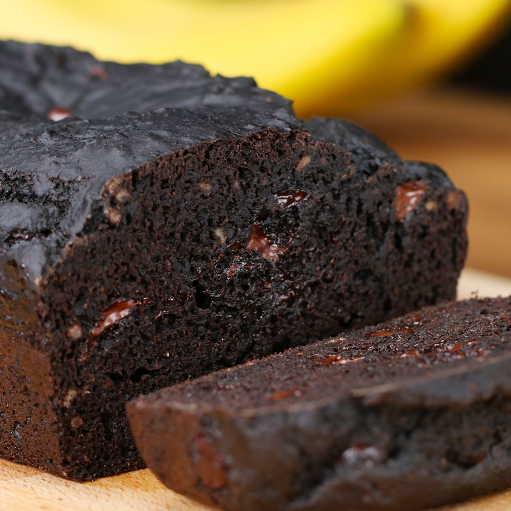 Dark Chocolate Banana Bread Recipe by Tasty - Recipes Chocolate Banana Bread