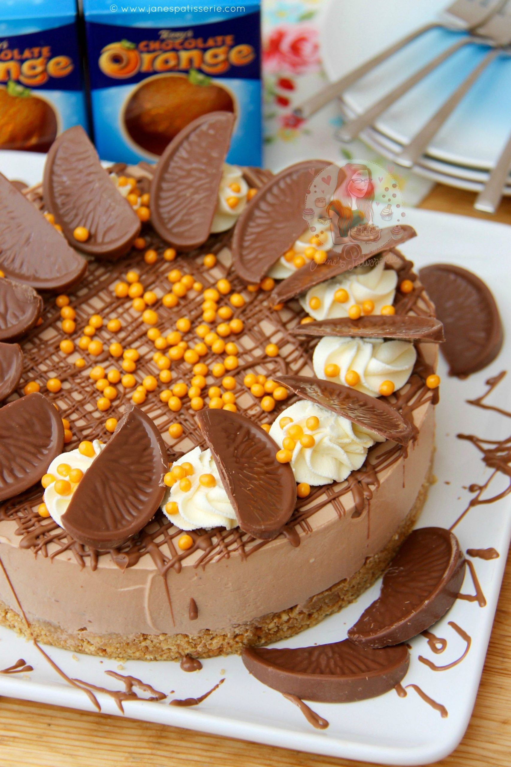 Deliciously creamy No-Bake Terry's Chocolate Orange Cheesecake ...