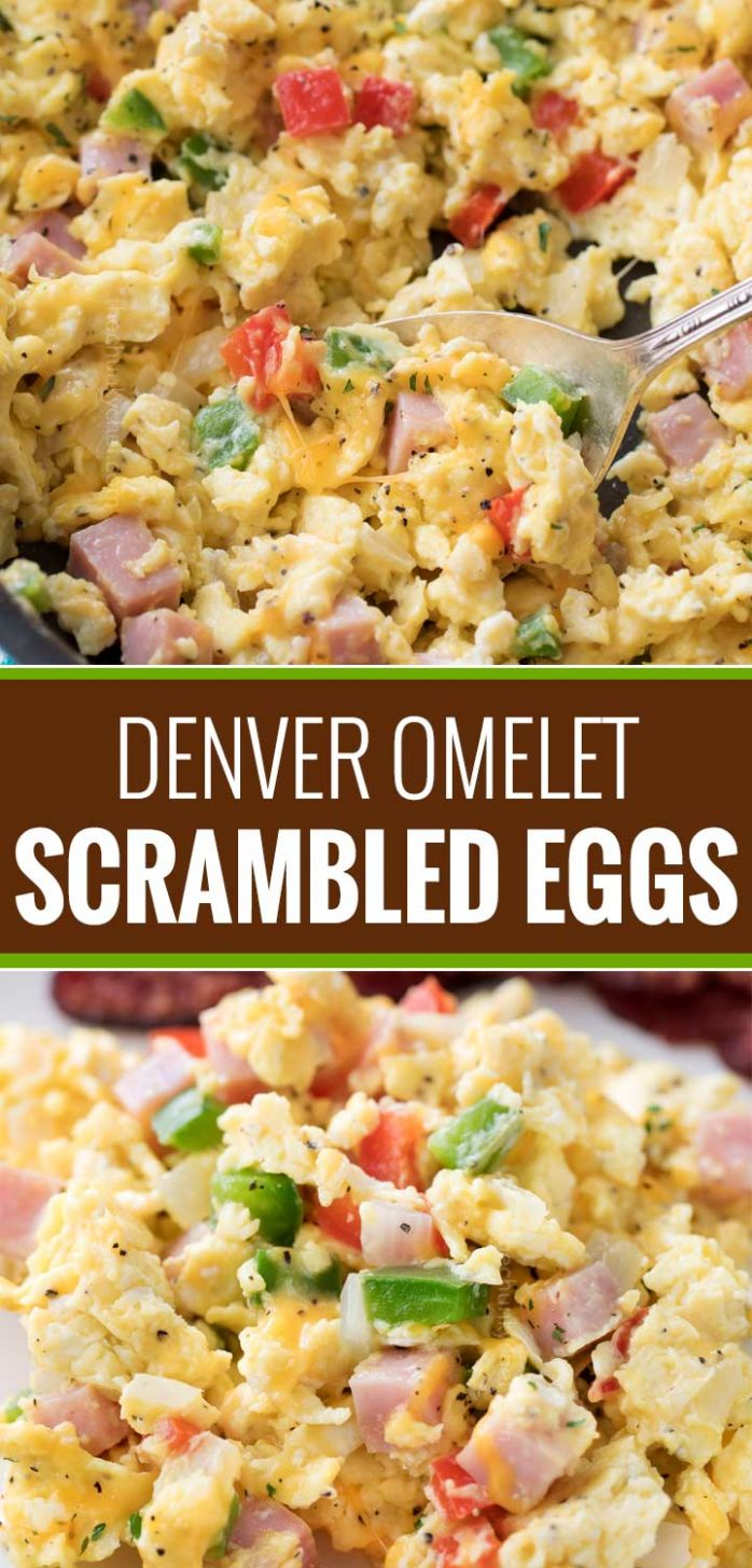 Denver Omelet Scrambled Eggs Skillet - The Chunky Chef