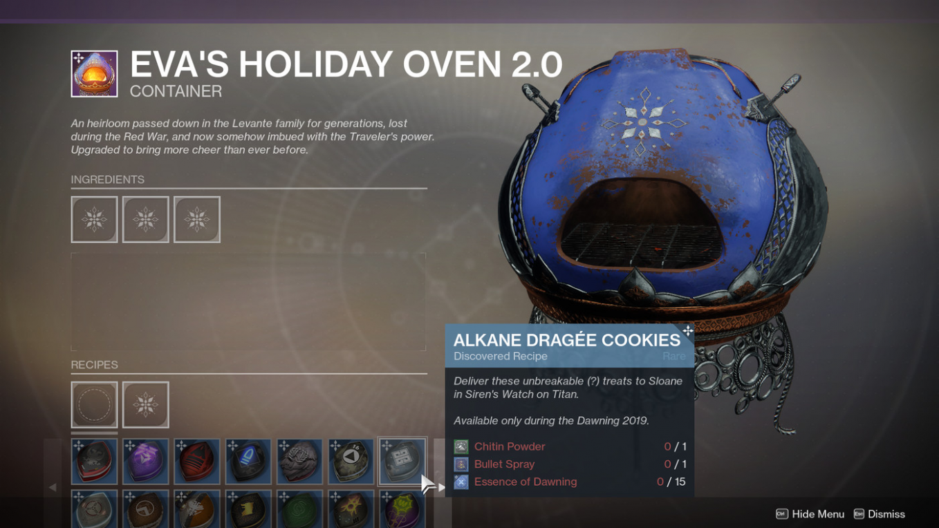 Destiny 11 Dawning 11019 ingredients, gifts, and recipes guide - Polygon - Cake Recipes Destiny 2