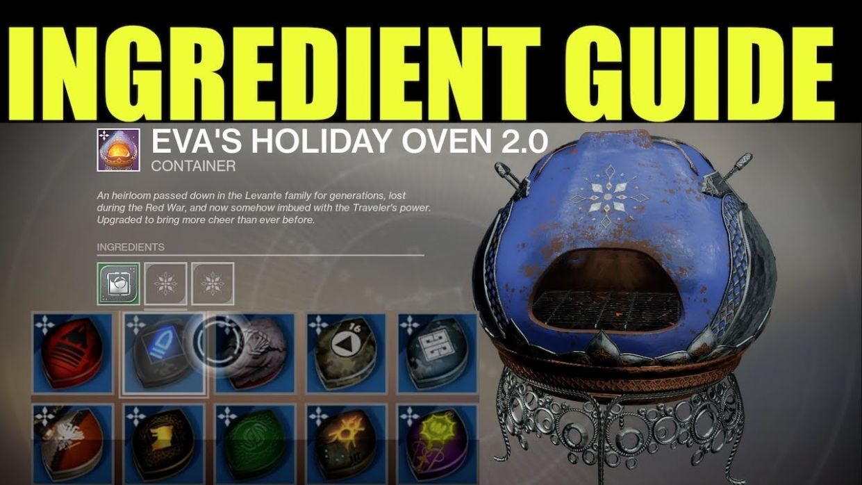Destiny 11: Dawning | All Eva's Holiday Oven Recipes | How To Get All  Ingredients & Essence (11.11)