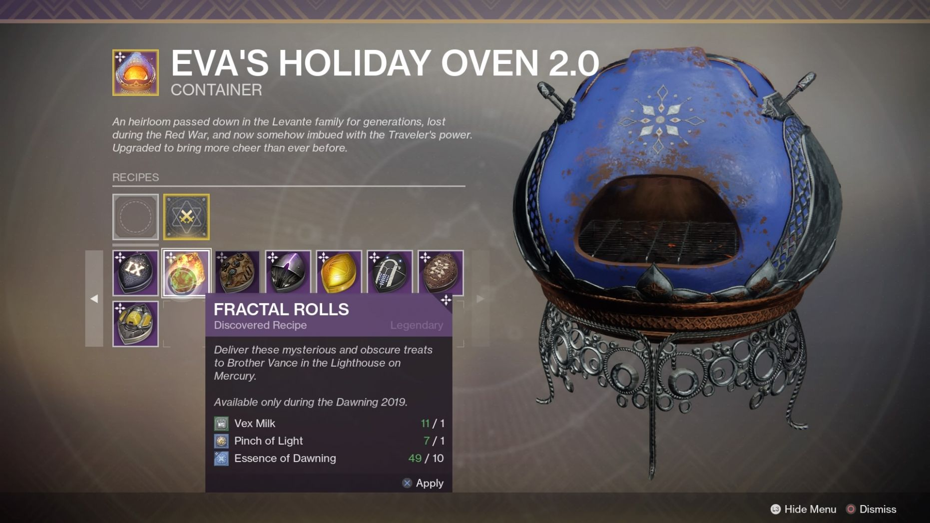 Destiny 11: Every Dawning 11019 Baking Recipes, Ingredients, and ..