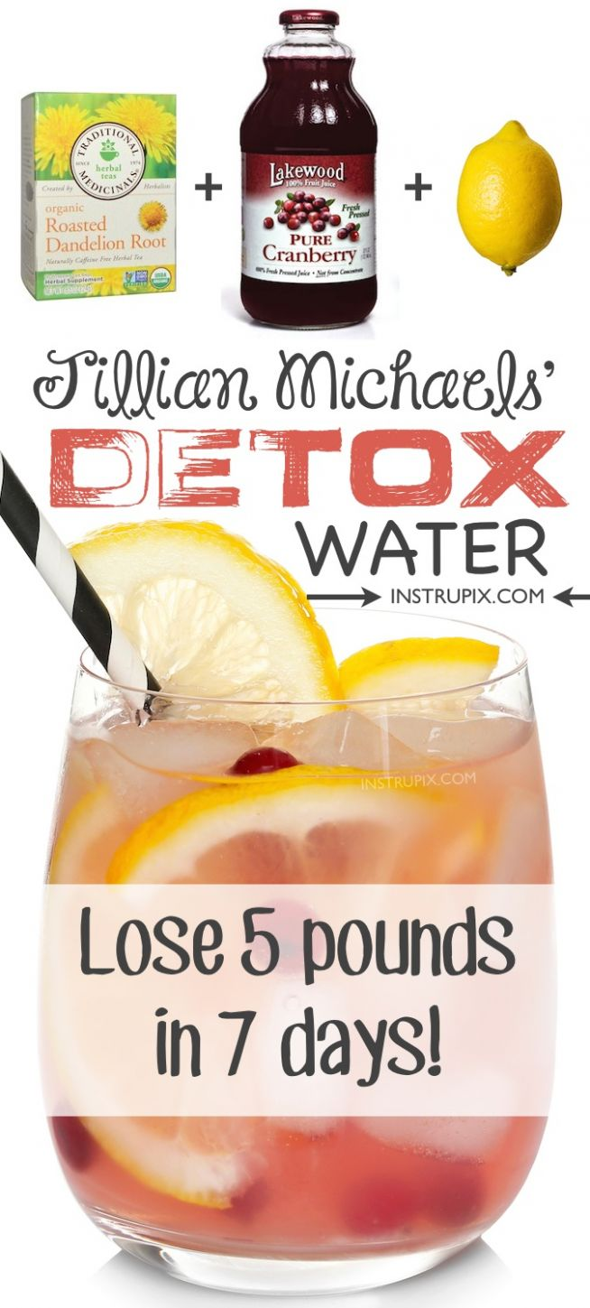 Detox Water Recipe To Lose Weight Fast! (12 Ingredients + Water) - Detox Recipes Weight Loss Homemade