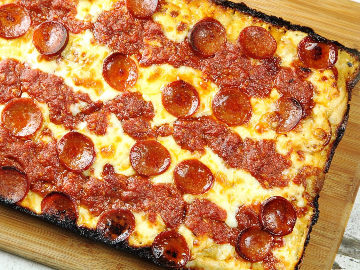 Detroit-Style Pan Pizza Recipe - Food Recipes Pizza