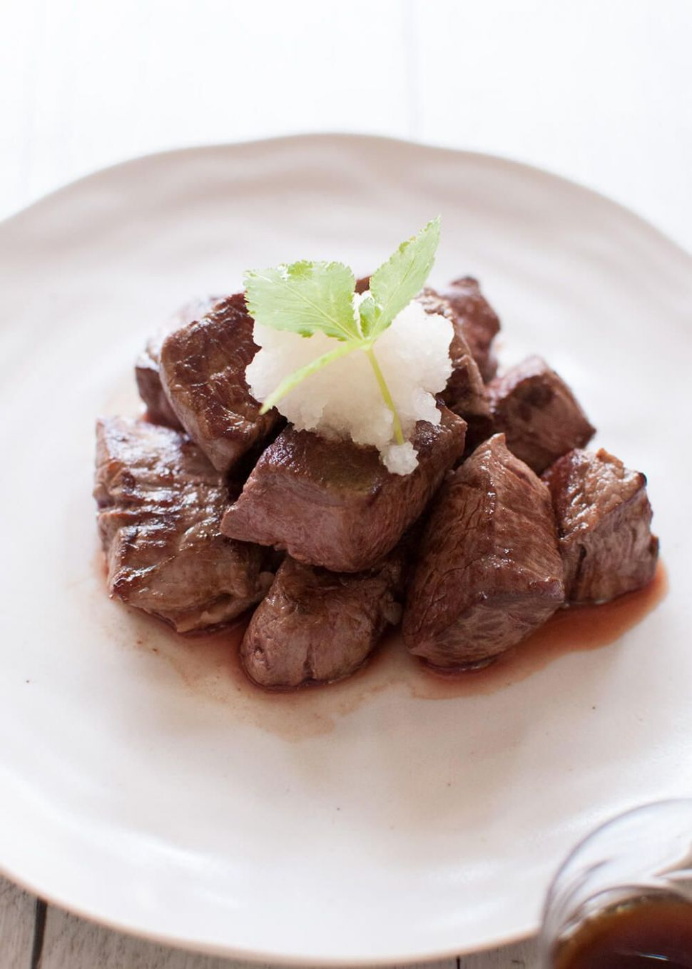 Diced Beef Steak (Saikoro Steak) with Japanese Style Sauces - Recipes Diced Beef