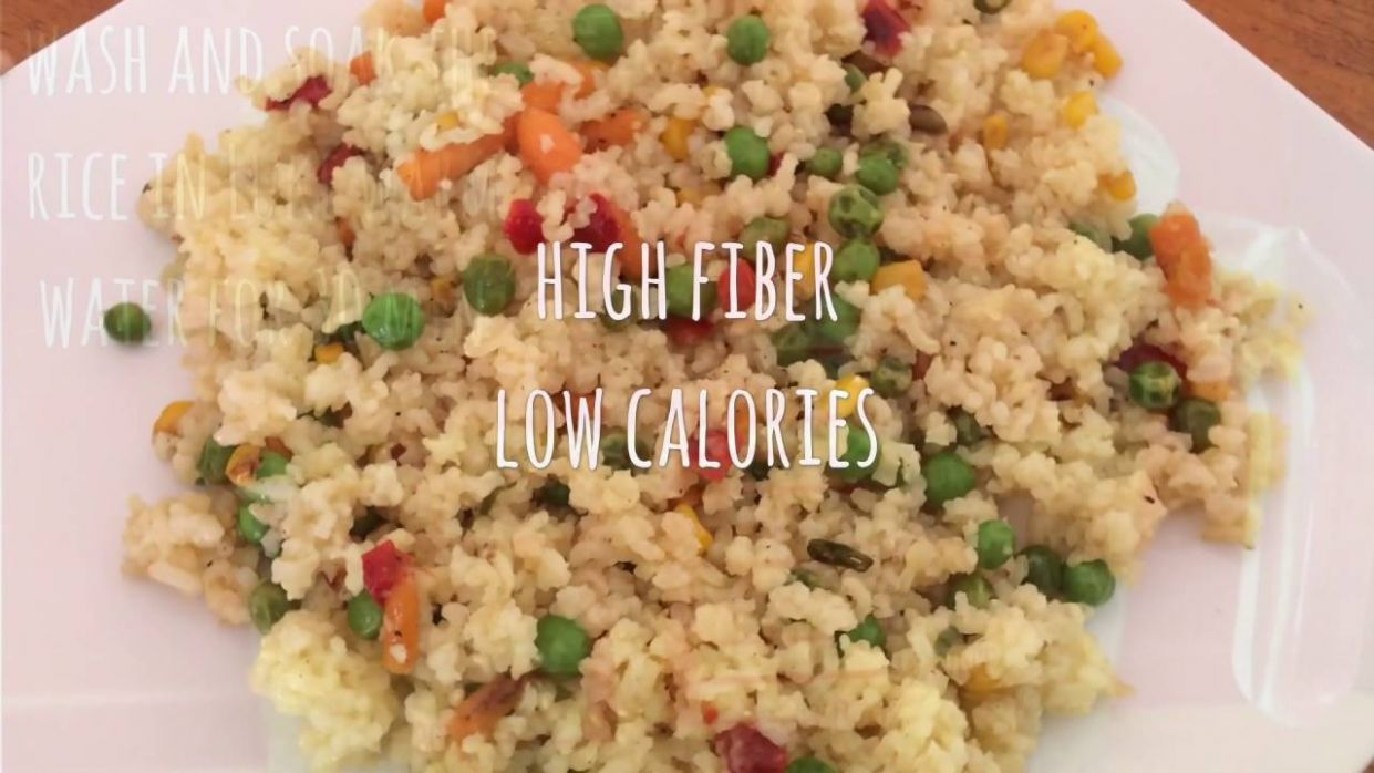 Diet Rice - Brown rice - high fiber low calorie meal