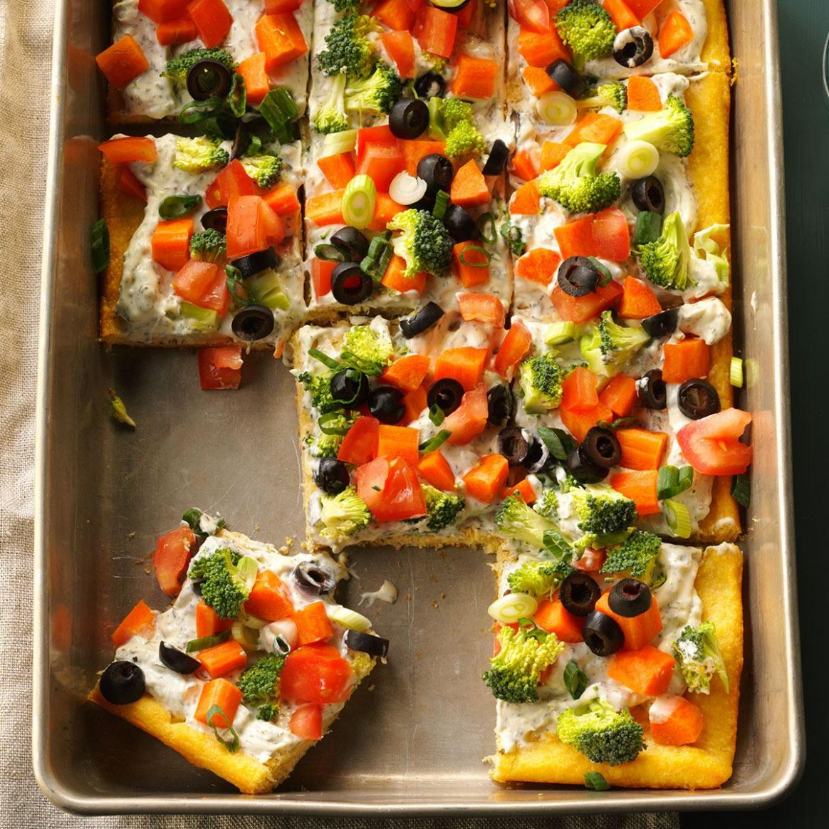 Dilly Veggie Pizza - Recipes Veggie Pizza Crescent Rolls