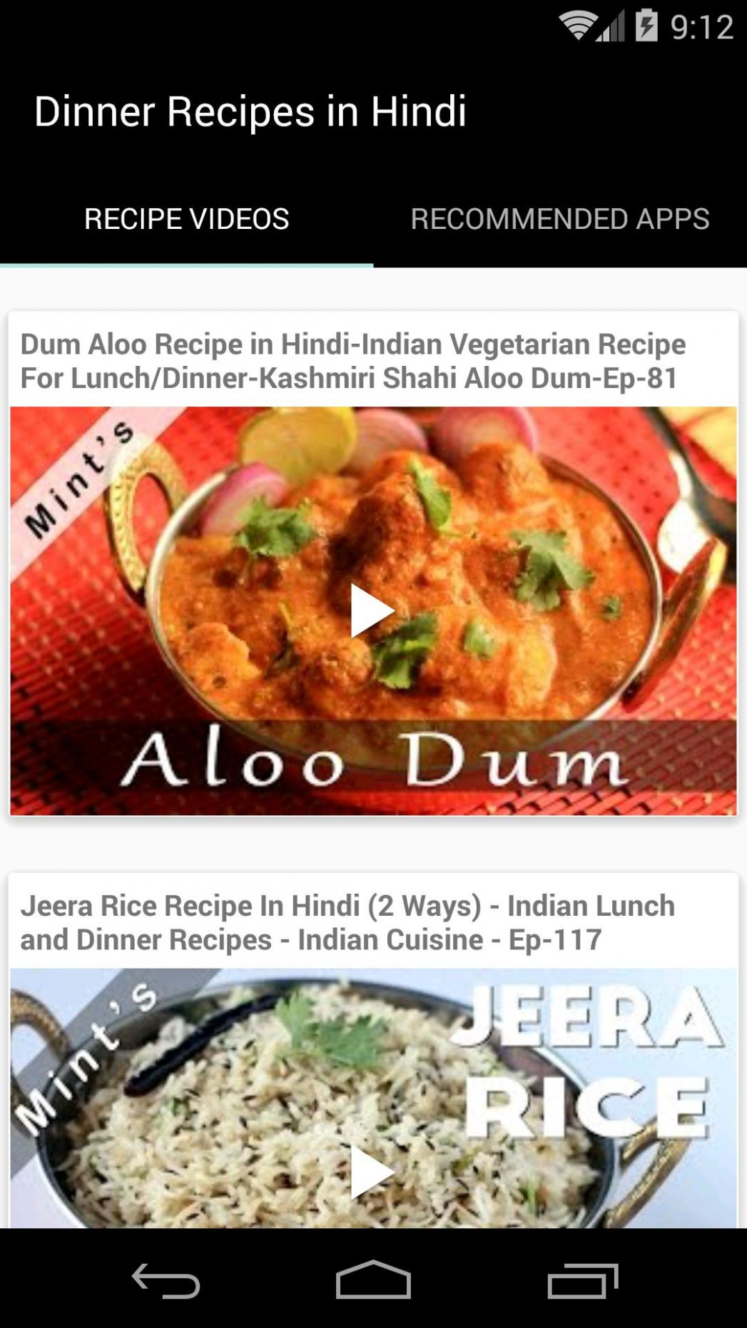 Dinner Recipes in Hindi for Android - APK Download - Dinner Recipes Hindi