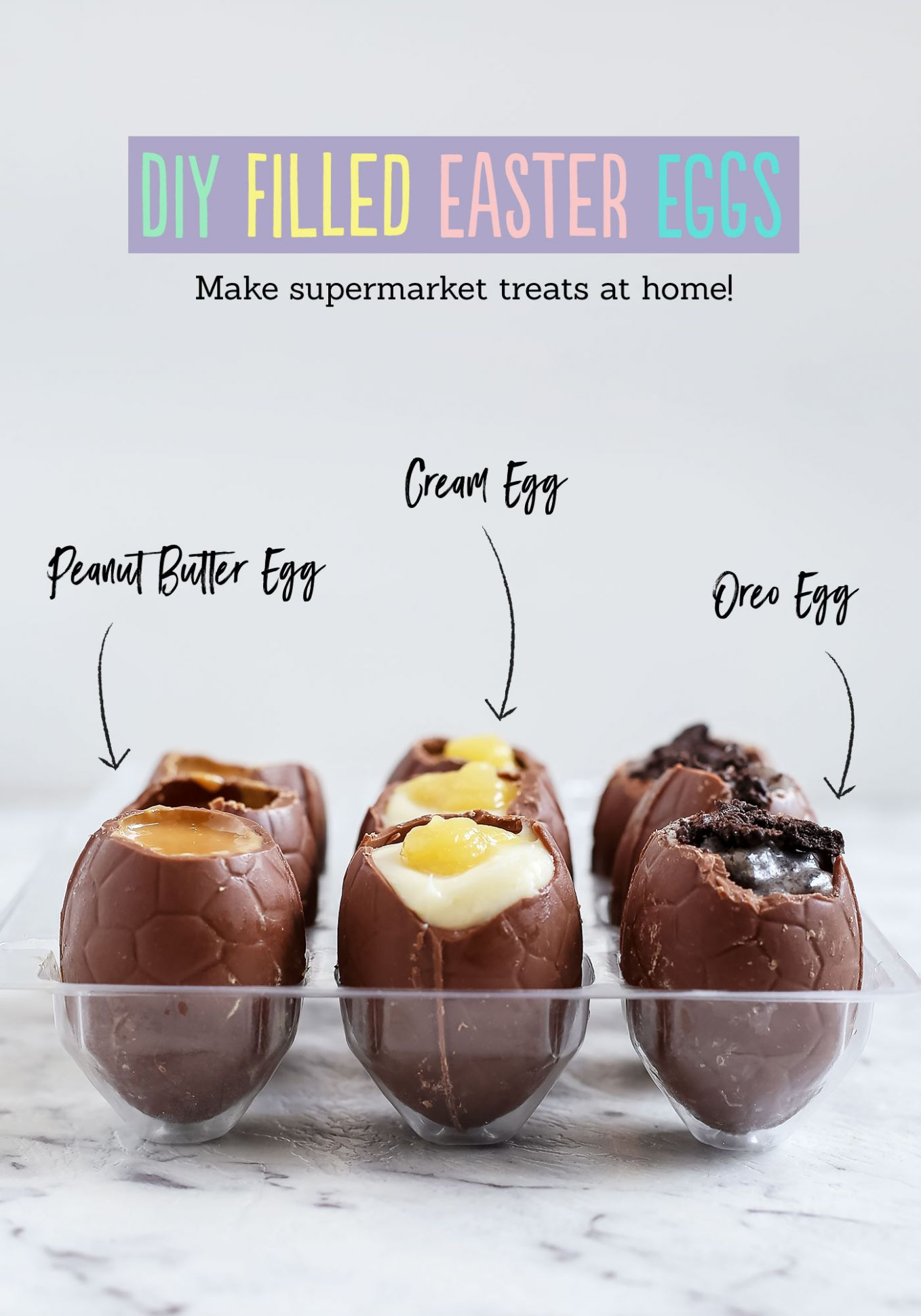 DIY Filled Easter Eggs - Recipe Chocolate Eggs